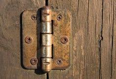De scharnier van de deur Stock Fotografie