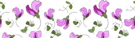 De schat bloeit naadloze patroongrens Vector Illustratie