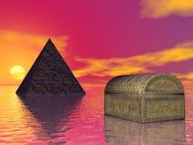 De schat van de piramide stock illustratie