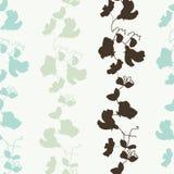 De schatbloesem van de tuinflora en van het bladeren naadloze patroon vecto Vector Illustratie
