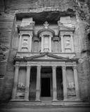De Schatkist Bouw van Petra, Jordanië stock afbeeldingen