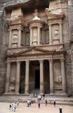 De schatkist in Petra Stock Fotografie