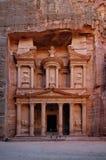 De schatkist, Petra, Jordanië Stock Foto