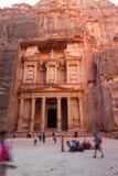 De schatkist, Petra, Jordanië Royalty-vrije Stock Afbeeldingen