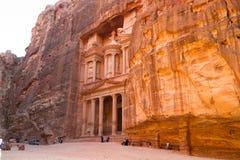 De schatkist, Petra, Jordanië Royalty-vrije Stock Foto's
