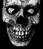 De schedel met dobbelt Royalty-vrije Stock Foto