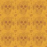 De schedel naadloos bloemenpatroon van de suiker Royalty-vrije Stock Foto's