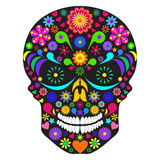 De schedel van de bloem Stock Foto