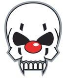 De schedel van de clown royalty-vrije illustratie