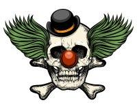 De schedel van de clown Royalty-vrije Stock Foto's