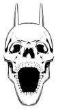 De schedel van de demon. Stock Afbeeldingen