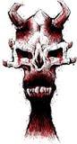 De schedel van de demon royalty-vrije illustratie