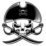 De schedel van de piraat Stock Afbeeldingen