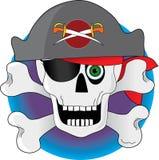 De Schedel van de piraat Stock Afbeelding
