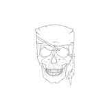 De schedel van de piraat Royalty-vrije Stock Fotografie