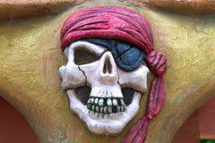 De schedel van de piraat Stock Foto's