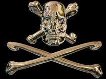 De schedel van de piraat en dwarsbeenderen stock illustratie
