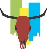 De schedel van de stier Stock Foto's