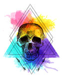 De schedel van de tatoegeringsstijl Royalty-vrije Stock Foto's