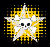 De schedel van Emo Stock Foto