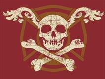 De schedel van Grunge Stock Afbeeldingen