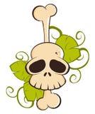De schedel van het beeldverhaal Stock Fotografie