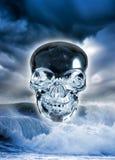 De schedel van het kristal Royalty-vrije Stock Afbeeldingen