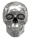 De schedel van het zilver of van het platina die op wit wordt geïsoleerde Royalty-vrije Stock Fotografie
