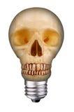 De schedel van Lightbulb stock foto