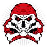 De schedelembleem van piraten Stock Afbeeldingen