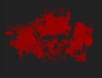 De schedelillustratie van de zombie Stock Foto's