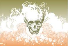 De schedelillustratie van de zombie Royalty-vrije Stock Afbeeldingen
