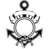 De schedelpistool van het ankerstuurwiel royalty-vrije illustratie