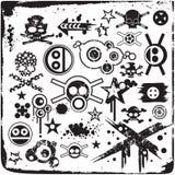 De Schedels van Grunge Stock Illustratie