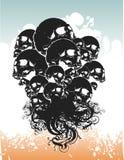 De schedelsillustratie van de demon Stock Afbeeldingen