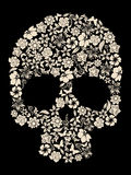 De schedelvector van de bloem Stock Foto's
