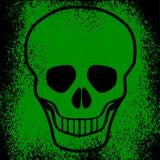 De schedelvector van Grunge Stock Afbeeldingen