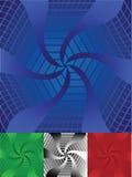 De scheefgetrokken Vierkante Reeks van de Zonnestraal Stock Fotografie