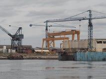 De scheepswerven van Aveiro stock foto's