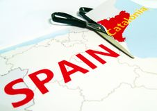 De scheiding van Catalonië van Spanje royalty-vrije stock fotografie