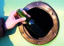 De scheiding van het afval - glas stock fotografie