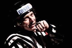 De scheidsrechter van het hockey Stock Foto