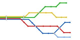 De schematische kaart van de metro Royalty-vrije Stock Foto's