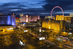 De Schemer van de Strook van Vegas van Las Royalty-vrije Stock Afbeeldingen