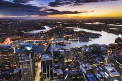 De Schemer van de Toren van Sydney hor Royalty-vrije Stock Afbeeldingen