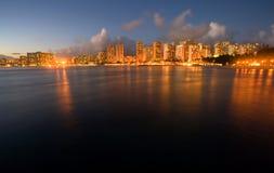 De Schemer van Waikiki Royalty-vrije Stock Fotografie