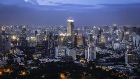 De Schemering van Bangkok, het Dansen van Licht Stock Afbeelding
