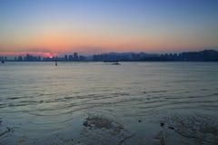 De schemering van de Haicangbaai Royalty-vrije Stock Fotografie