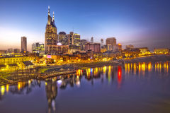 De schemering van Nashville, Tennessee Stock Fotografie