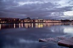 De schemering van St. Petersburg stock afbeeldingen